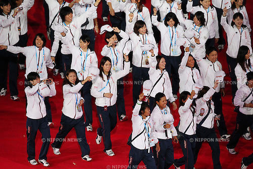 Japan Delegation (JPN), ..AUGUST 12, 2011 - Opening Ceremony : ..The 26th Summer Universiade 2011 Shenzhen ..Opening Ceremony ..at Main Stadium of Universiade Center, Shenzhen, China. ..(Photo by YUTAKA/AFLO SPORT) [1040]
