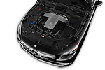 Car Stock 2017 Mercedes Benz S-Class S65-AMG 2 Door Convertible Engine  high angle detail view