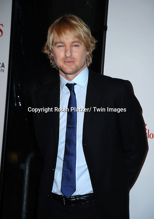 "Owen Wilson at the World Premiere of ""Little Fockers"",.benefiting the not-for-profit tribeca Film Institute on December 15, 2010 at The .Ziegfeld Theatre in New York City."