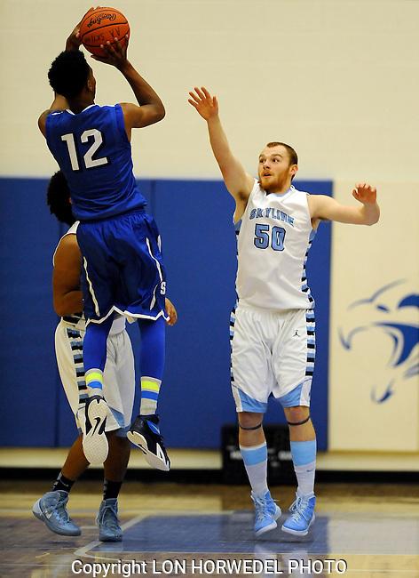 Skyline High School vs. Salem High School boy's varsity basketball at Skyline, Tuesday, December 9, 2014.