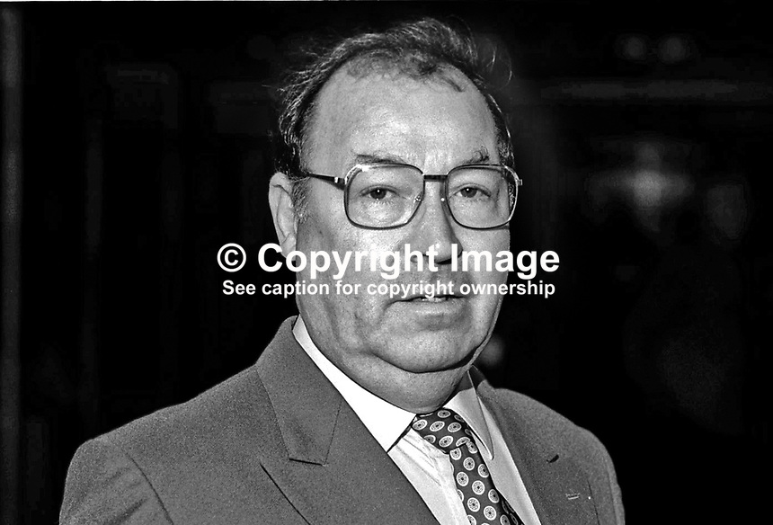 Norman West, MEP, Labour Party, Britain, UK. Taken at Annual Conference, Blackpool, England. Ref: 199409029b.<br /> <br /> Copyright Image from Victor Patterson,<br /> 54 Dorchester Park, <br /> Belfast, UK, BT9 <br /> <br /> t1: +44 28 9066 1296 (from Rep of Ireland 048 90661296)<br /> t2: +44 28 9002 2446 (from Rep of Ireland 048 9002 2446)<br /> <br /> m: +44 7802 353836<br /> <br /> e: victorpatterson@me.com<br /> www.victorpatterson.com<br /> <br /> Please see my Terms and Conditions of Use at www.victorpatterson.com. It is IMPORTANT that you familiarise yourself with them.<br /> <br /> Images used on the Internet must be visibly watermarked i.e. &copy; Victor Patterson<br /> within the body of the image and copyright metadata must not be deleted. Images <br /> used on the Internet have a size restriction of 4kbs and will be chargeable at current<br />  NUJ rates unless agreed otherwise.<br /> <br /> This image is only available for the use of the download recipient i.e. television station, newspaper, magazine, book publisher, etc, and must not be passed on to any third <br /> party. It is also downloaded on condition that each and every usage is notified within 7 days to victorpatterson@me.com<br /> <br /> The right of Victor Patterson to be identified as the author is asserted in accordance with The Copyright Designs And Patents Act (1988). All moral rights are asserted.