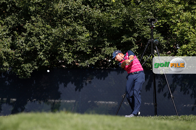 Sergio Garcia (SPN) tees off on the 9th hole during the first round of the 100th PGA Championship at Bellerive Country Club, St. Louis, Missouri, USA. 8/9/2018.<br /> Picture: Golffile.ie | Brian Spurlock<br /> <br /> All photo usage must carry mandatory copyright credit (© Golffile | Brian Spurlock)
