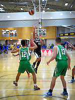 Action from the 2016 National Under-15 Basketball boys semifinal match between Palmerston North and Harbour A at ASB Sports Centre, Wellington, New Zealand on Friday, 22 July 2016. Photo: Dave Lintott / lintottphoto.co.nz