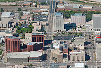 aerial of downtown Colorado Springs