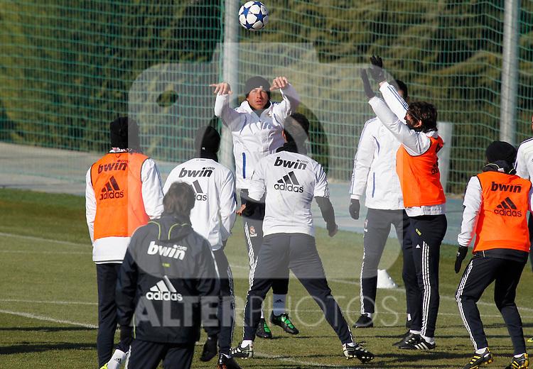 Madrid.- (01/02/2011).-Ciudad Deportiva de Valdebebas..Entrenamiento del Real Madrid....Photo: Alex Cid-Fuentes / ALFAQUI