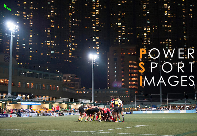 Penguins vs East Hotel HK Scottish Exiles during day 1 of the 2014 GFI HKFC Tens at the Hong Kong Football Club on 26 March 2014. Photo by Juan Flor / Power Sport Images