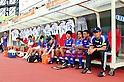 Hisashi Kurosaki (Albirex),JULY 16, 2011 - Football :Albirex Niigata head coach Hisashi Kurosaki sits on the bench before the 2011 J.League Division 1 match between Shimizu S-Pulse 2-1 Albirex Niigata at OUTSOURCING Stadium Nihondaira in Shizuoka, Japan. (Photo by AFLO)(R to L)  Hisashi Kurosaki,  Carlos Alberto Souza Dos Santos,  Motoharu Watanabe,  GKAtsushi Shirai