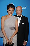 BEVERLY HILLS, CA. - December 10: Bruce Willis and wife Emma Heming attend the UNICEF Ball honoring Jerry Weintraub at The Beverly Wilshire Hotel on December 10, 2009 in Beverly Hills, California.