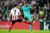 Athletic de Bilbao's Benat Etxebarria (l) and FC Barcelona's Paulinho during La Liga match. October 28,2017. (ALTERPHOTOS/Acero) /NortePhoto.com