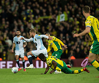 Blackburn Rovers' Harry Chapman on the break and battling for procession with Norwich City's Alexander Tettey<br /> <br /> Photographer David Horton/CameraSport<br /> <br /> The EFL Sky Bet Championship - Norwich City v Blackburn Rovers - Saturday 27th April 2019 - Carrow Road - Norwich<br /> <br /> World Copyright © 2019 CameraSport. All rights reserved. 43 Linden Ave. Countesthorpe. Leicester. England. LE8 5PG - Tel: +44 (0) 116 277 4147 - admin@camerasport.com - www.camerasport.com