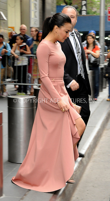 WWW.ACEPIXS.COM . . . . .  ....May 14 2012, New York City....Naya Rivera leaving a midtown hotel on May 14 2012 in New York City....Please byline: CURTIS MEANS - ACE PICTURES.... *** ***..Ace Pictures, Inc:  ..Philip Vaughan (212) 243-8787 or (646) 769 0430..e-mail: info@acepixs.com..web: http://www.acepixs.com