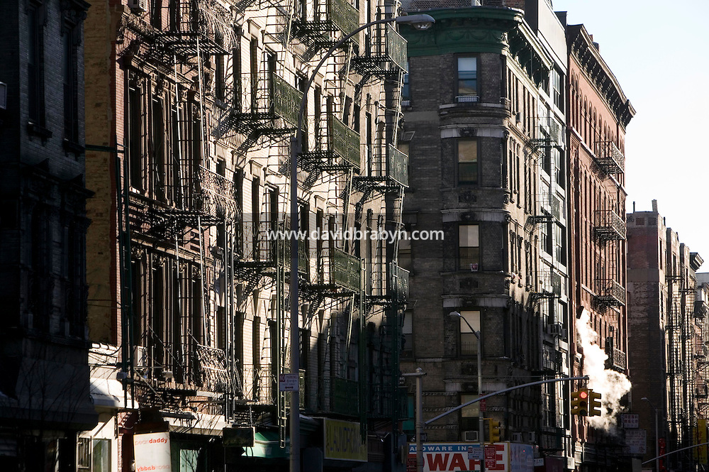 15 January 2006 - View of a street in the NoLIta neighborhood in New York City, USA, 15 January 2006.
