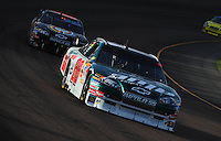 Nov. 9, 2008; Avondale, AZ, USA; NASCAR Sprint Cup Series driver Dale Earnhardt Jr during the Checker Auto Parts 500 at Phoenix International Raceway. Mandatory Credit: Mark J. Rebilas-