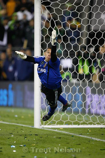 Trent Nelson  |  The Salt Lake Tribune.Real Salt Lake vs. LA Galaxy, MLS Cup Sunday, November 22 2009 at Qwest Field in Seattle. Nick Rimando