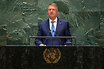General Assembly Seventy-fourth session, 5th plenary meeting<br /> <br /> His Excellency Klaus Werner Iohannis, President, Romania