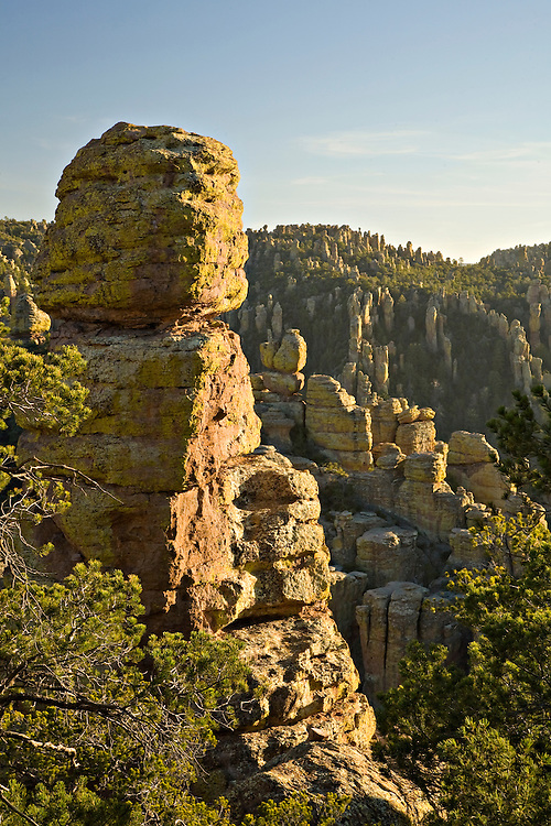 Rhyolite rock spires in Chiricahua National Monument, Arizona