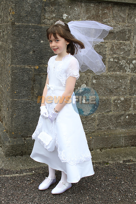 Katie Fogarty at the 2011 Donore NS First Holy Communion...(Photo credit should read Jenny Matthews www.newsfile.ie)....This Picture has been sent you under the conditions enclosed by:.Newsfile Ltd..The Studio,.Millmount Abbey,.Drogheda,.Co Meath..Ireland..Tel: +353(0)41-9871240.Fax: +353(0)41-9871260.GSM: +353(0)86-2500958.email: pictures@newsfile.ie.www.newsfile.ie.