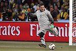 20 JUN 2010: Julio Cesar (BRA). The Brazil National Team defeated the C'ote d'Ivoire National Team 3-1 at Soccer City Stadium in Johannesburg, South Africa in a 2010 FIFA World Cup Group G match.