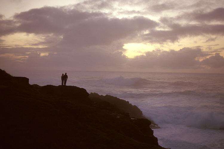 Enjoying a soft sunset on the Mendocino Coast of Northern Califorina