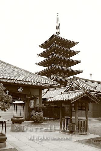 Mar 6, 2006; Tokyo, JPN; Asakusa.Gojuno-to (five storied pagoda) next to the Senso-ji Buddhist temple...Photo credit:  Darrell Miho