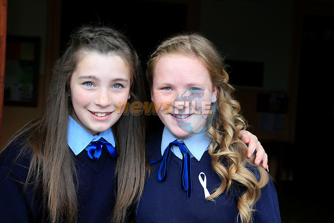 Casey O'Brien and Amy Reynolds  at confirmation in the Lourdes Church. Picture: www.newsfile.ie