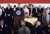 Members of the Carter family including first lady Rosalynn Carter look on as United States President Jimmy Carter makes remarks conceding the election to Republican Ronald Reagan at the Sheraton Washington Hotel in Washington, DC on November 4, 1980.<br /> Credit: Benjamin E. &quot;Gene&quot; Forte / CNP