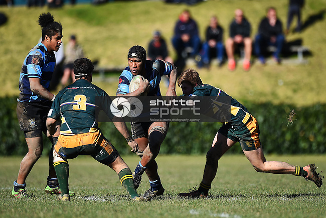 NELSON, NEW ZEALAND - JULY 27: UC Championship Nelson College v Waimea Comined on July 27, 2016 in Nelson, New Zealand. (Photo by: Chris Symes/Shuttersport Limited)