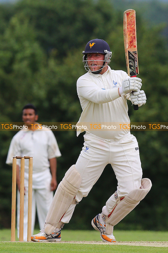 J Kliber in batting action for Shenfield during Shenfield CC vs Ilford CC, Shepherd Neame Essex League Cricket at Chelmsford Road on 2nd July 2016