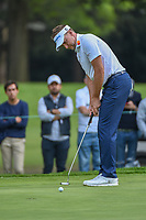 Ian Poulter (GBR) watches his birdie putt on 15 during round 3 of the World Golf Championships, Mexico, Club De Golf Chapultepec, Mexico City, Mexico. 2/23/2019.<br /> Picture: Golffile | Ken Murray<br /> <br /> <br /> All photo usage must carry mandatory copyright credit (© Golffile | Ken Murray)