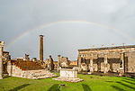 The Forum in the ancient city of Pompeii, Italy