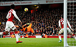 Liverpool's Sadio Mane puts his chance over the bar during the premier league match at the Emirates Stadium, London. Picture date 22nd December 2017. Picture credit should read: David Klein/Sportimage