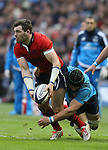 Sean Lamont of Scotland tackled by Francesco Minto of Italy - RBS 6Nations 2015 - Scotland  vs Italy - BT Murrayfield Stadium - Edinburgh - Scotland - 28th February 2015 - Picture Simon Bellis/Sportimage