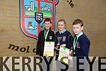 Lorcan Ryan, Emer O' Sullivan, Rory Dalton, 6th class winners of the Primary Science Quiz in the IT South Campus on Thursday 19th.