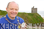 NEW MAYOR: John Walsh, the newly crowned mayor of Ballybunion with his chain of office on Friday.