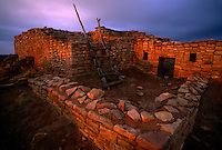 Thousand-year-old Lowry Pueblo grew with the fortunes of the Ancestral Puebloans at the Canyon of the Ancients National Monument.  Anasazi people built kivas, cliff dwellings, and shrines leaving a high density of archeology sites in the Four Corners area.  The restored pueblo is a small structure with few rooms, the living space expanded over some 165 years into a 40-room masonry landmark in Colorado.