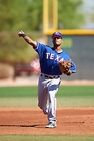 Texas Rangers Jonah McReynolds (43) during an Instructional League game against the Cincinnati Reds on October 4, 2016 at the Surprise Stadium Complex in Surprise, Arizona.  (Mike Janes/Four Seam Images)