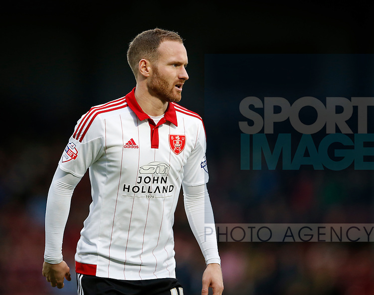 Matt Done of Sheffield Utd - English League One - Scunthorpe Utd vs Sheffield Utd - Glandford Park Stadium - Scunthorpe - England - 19th December 2015 - Pic Simon Bellis/Sportimage