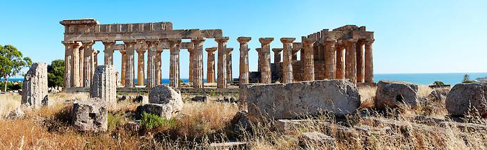 Fallen column drums of Greek Dorik Temple ruins  Selinunte, Sicily photography, pictures, photos, images & fotos. 60