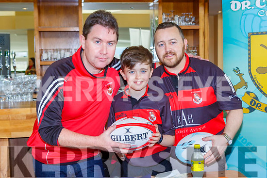 Tom O'Leary, Donncha And Liam Murphy Killarney Rugby Club at the Kerry Clubs Fair day in Killarney on Sunday