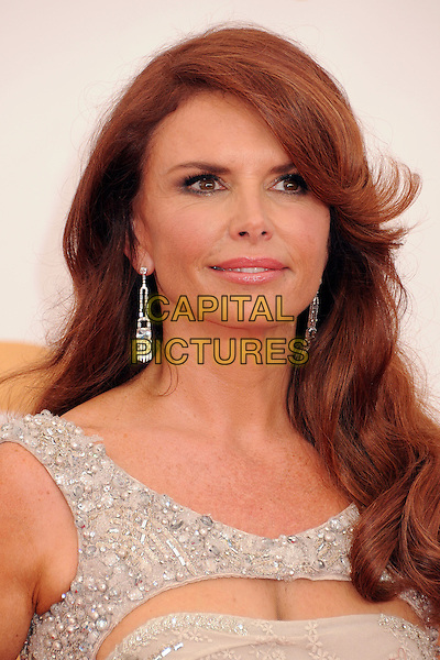 Roma Downey<br /> 65th Annual Primetime Emmy Awards - Arrivals held at Nokia Theatre L.A. Live, Los Angeles, California, USA.<br /> September 22nd, 2013<br /> headshot portrait silver  <br /> CAP/ADM/BP<br /> &copy;Byron Purvis/AdMedia/Capital Pictures