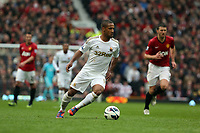 Pictured: Wayne Routledge.<br /> Sunday 12 May 2013<br /> Re: Barclay's Premier League, Manchester City FC v Swansea City FC at the Old Trafford Stadium, Manchester.
