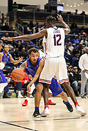 Washington, DC - December 22, 2018: Hampton Pirates guard Jermaine Marrow (2) makes a pass during the DC Hoops Fest between Hampton and Howard at  Entertainment and Sports Arena in Washington, DC.   (Photo by Elliott Brown/Media Images International)