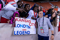 HOUSTON, TX - FEBRUARY 03: Vlatko Andonovski of the United States poses for a photo with fans during a game between Costa Rica and USWNT at BBVA Stadium on February 03, 2020 in Houston, Texas.