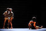 GERRO MINOS & HIM<br /> <br /> Chorégraphie et danse : Simon Tanguy, Roger Sala Reyner, Aloun Marchal<br /> Lumière/light : Pablo Fontdevila<br /> Lieu/Place : Théâtre des Abbesses<br /> Ville/Town : Paris<br /> Date : 09/09/2013<br /> © Laurent Paillier / photosdedanse.com