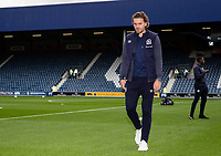 Blackburn Rovers' Sam Gallagher pictured before the match <br /> <br /> Photographer Andrew Kearns/CameraSport<br /> <br /> The EFL Sky Bet Championship - Queens Park Rangers v Blackburn Rovers - Saturday 5th October 2019 - Loftus Road - London<br /> <br /> World Copyright © 2019 CameraSport. All rights reserved. 43 Linden Ave. Countesthorpe. Leicester. England. LE8 5PG - Tel: +44 (0) 116 277 4147 - admin@camerasport.com - www.camerasport.com