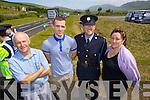 Pictured at the opening of the Annascaul Road on Friday last were l-r: George Finn (Annascaul) Jamie Finn (Annascaul) Donal Ashe (Tralee Garda Station) and Noreen Finn (Annascaul)