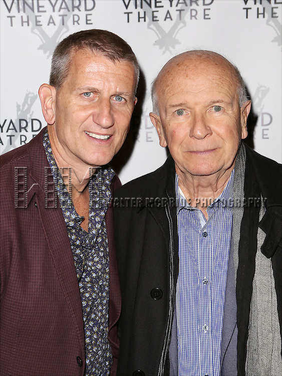 Tom Kirdahy and Terrence McNally attends the Off-Broadway opening Night Performance of 'Billy & Ray' at the Vineyard Theatre on October 20, 2014 in New York City.