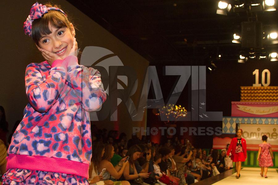 SÃO PAULO,SP,28.03.2015- FASHION WEEKEND KIDS -Modelos mirins durante o desfile da marca Animê.Shopping Cidade Jardim,região sul da cidade de São Paulo na tarde desse sábado,28.(FOTO:KEVIN DAVID/BRAZIL PHOTO PRESS).