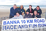 BANNA ROAD RACE: Launch the Banna 10km Road Race and Fun Run to held on Sunday 31st of July at 9:30am front l-r: Tom Scanlon, Dermot Dillane and Seamus Falvey. Back l-r: Liam Marley, Shaz Malik, Kerry Regan and John Clifford.
