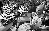 2013 Giro d'Italia.stage 21: Riese Pio X - Brescia..post finish joy for OmegaPharma-QuickStep as Mark Cavendish (GBR) takes home his 5th win AND the red jersey